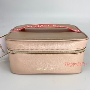 Michael Kors Bag Cosmetic Pouch Train Box Case NEW